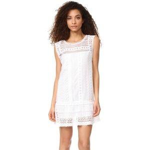 BB Dakota Milo Crochet dress Optic White lace